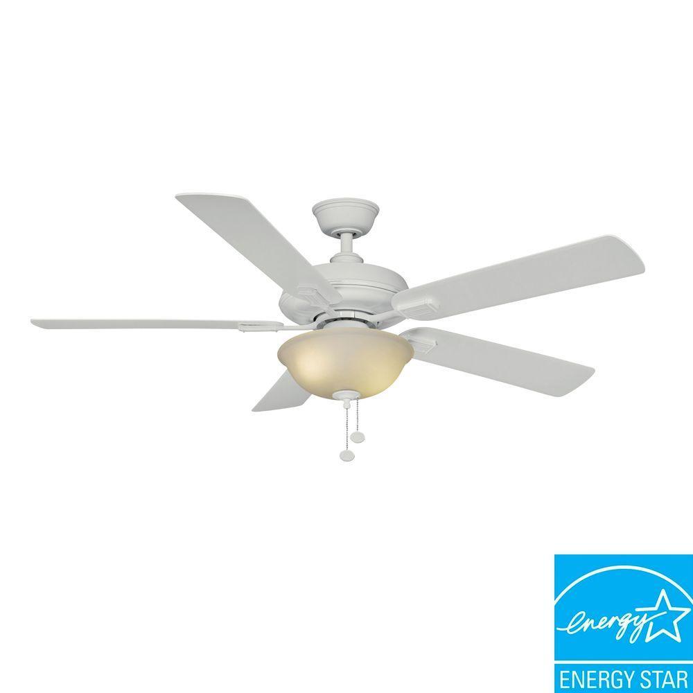 hampton bay white ceiling fan photo - 9
