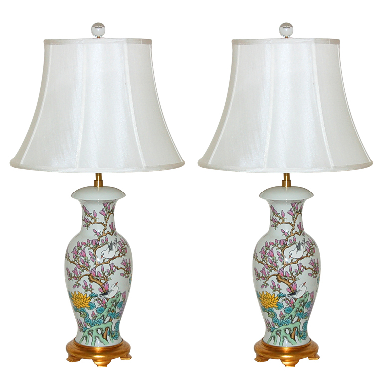 hand painted lamps photo - 2