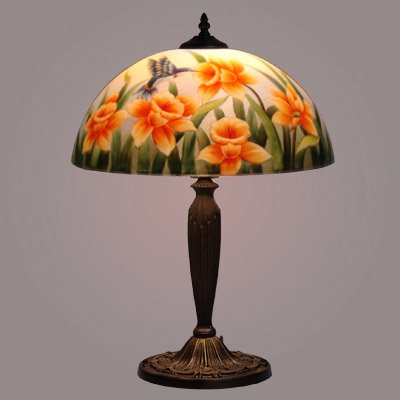 hand painted lamps photo - 3