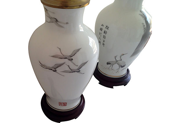 hand painted lamps photo - 4