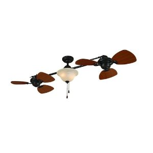 harbor breeze double ceiling fan warisan lighting. Black Bedroom Furniture Sets. Home Design Ideas