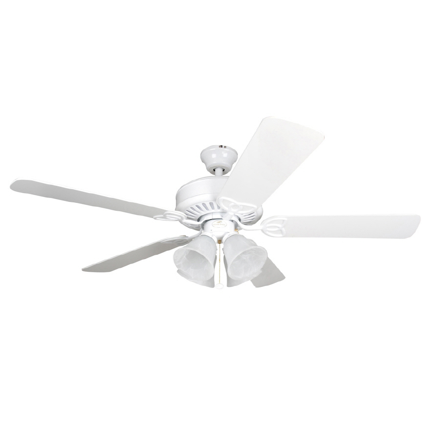harbor breeze white ceiling fan photo - 1