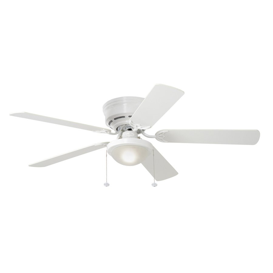 harbor breeze white ceiling fan photo - 2
