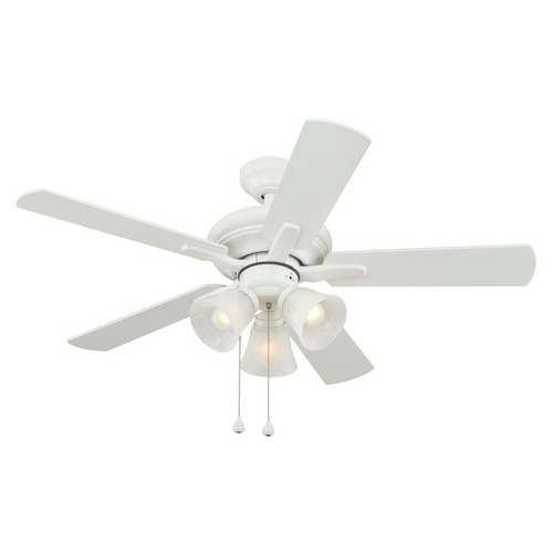 harbor breeze white ceiling fan photo - 3
