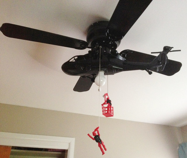 helicopter blade ceiling fan photo - 4