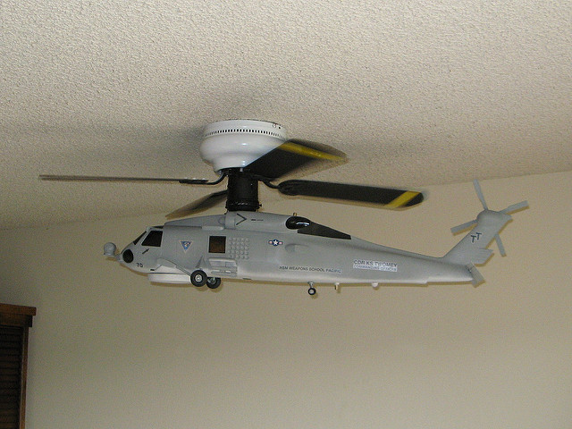 helicopter blade ceiling fan photo - 9