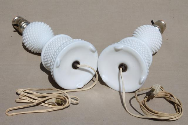 hobnail lamps photo - 9