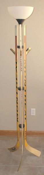 hockey stick lamp photo - 2