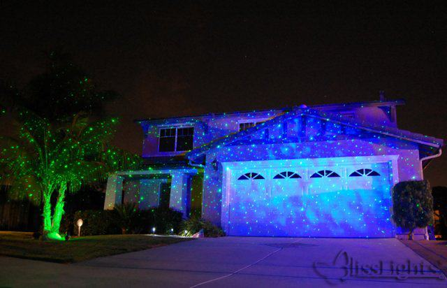 holiday outdoor projector lights photo - 1