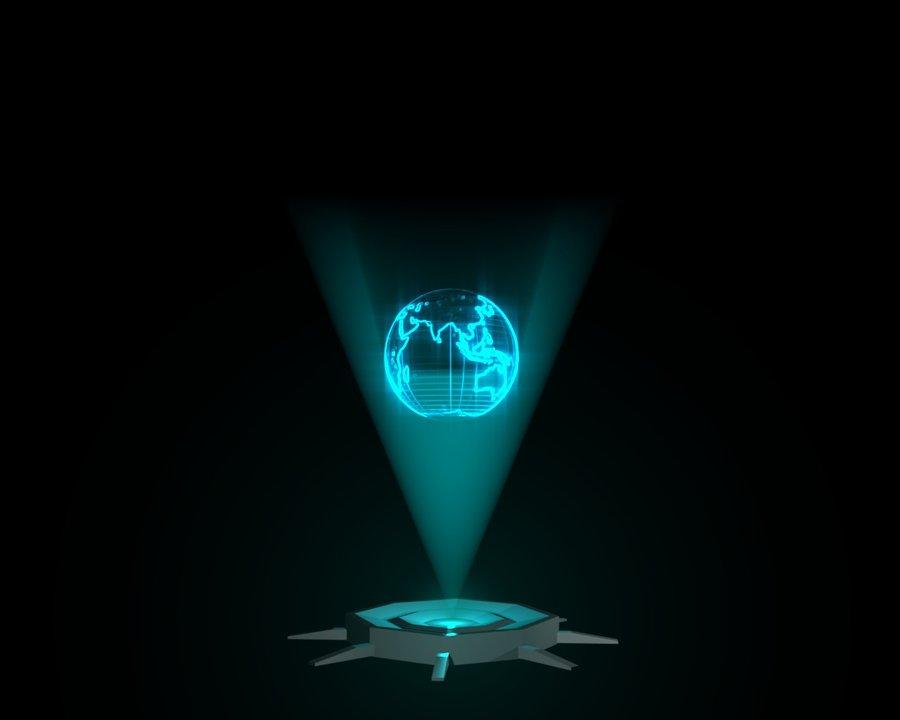 hologram lamp photo - 2