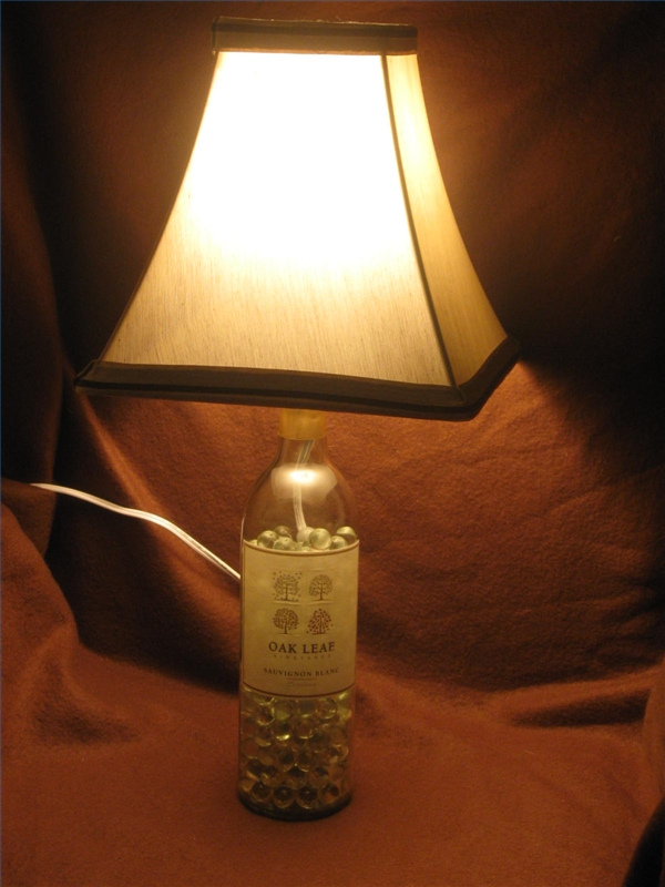 how to make a bottle lamp photo - 5