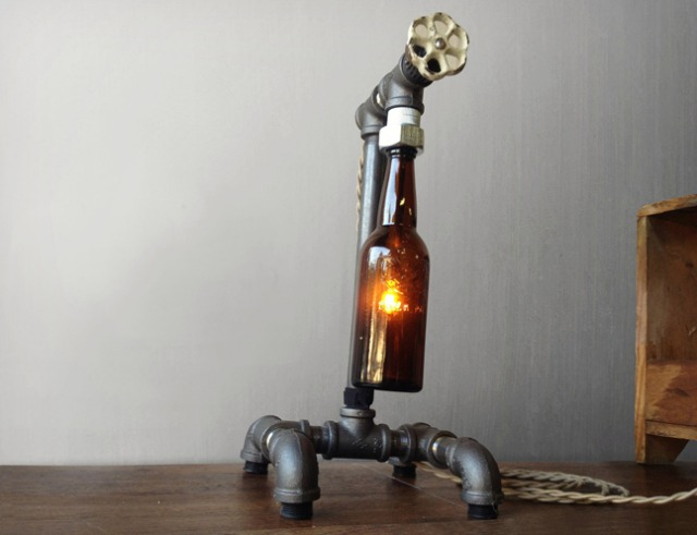 how to make a bottle lamp photo - 7