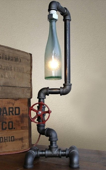 how to make a bottle lamp photo - 8