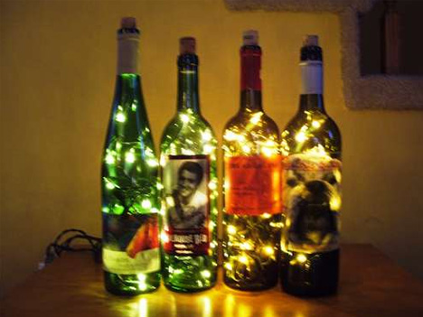 how to make a lamp out of a wine bottle photo - 4