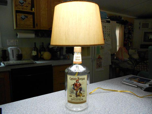 how to make liquor bottle lamps photo - 4