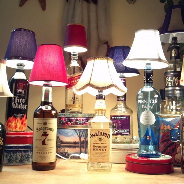 how to make liquor bottle lamps photo - 5