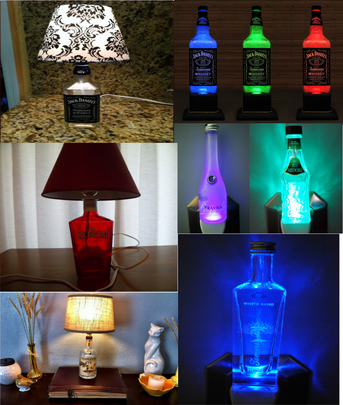 How to make liquor bottle lamps