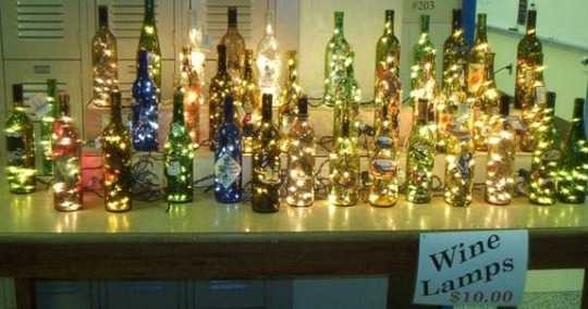 how to make wine bottle lamps photo - 7