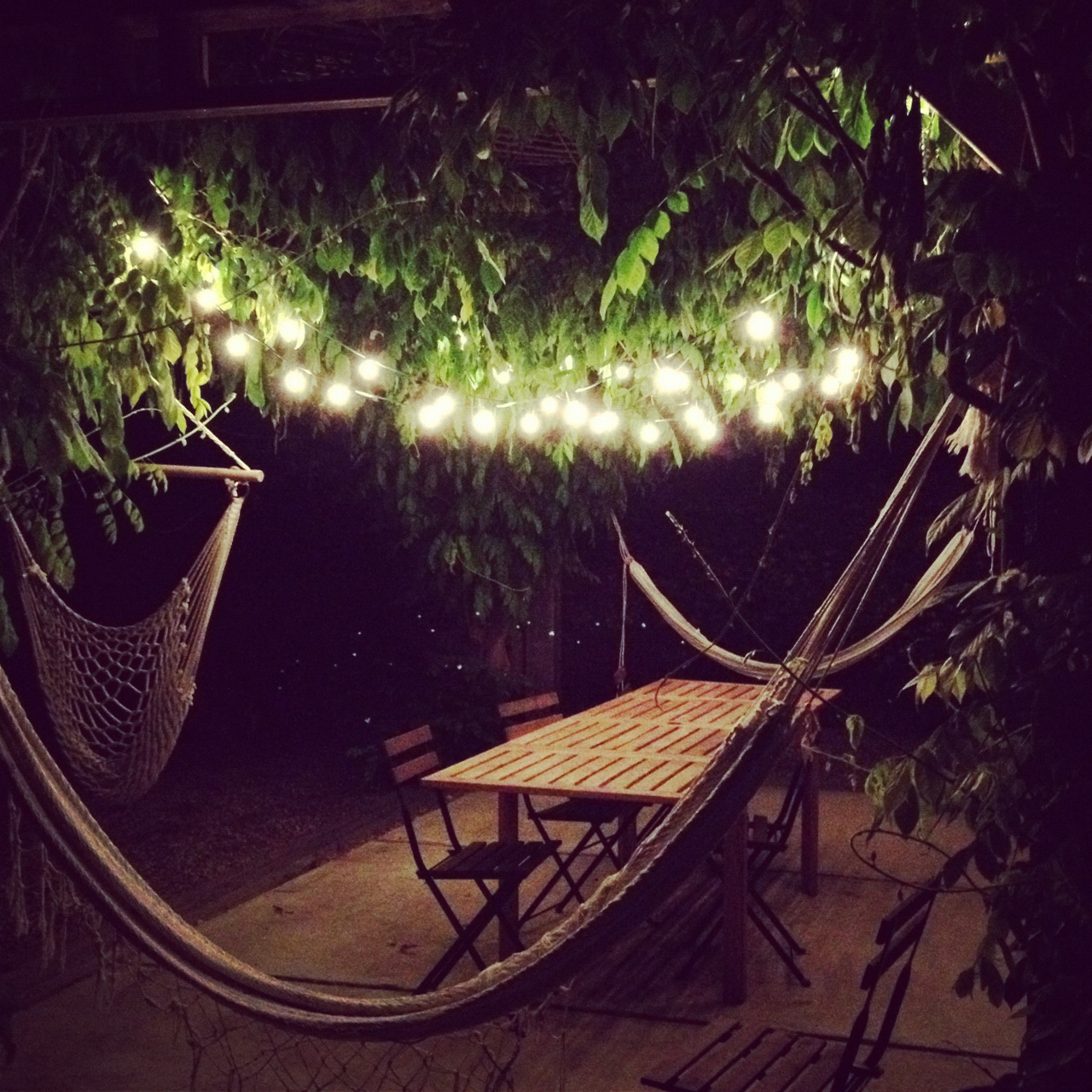 ikea string lights outdoor photo - 2