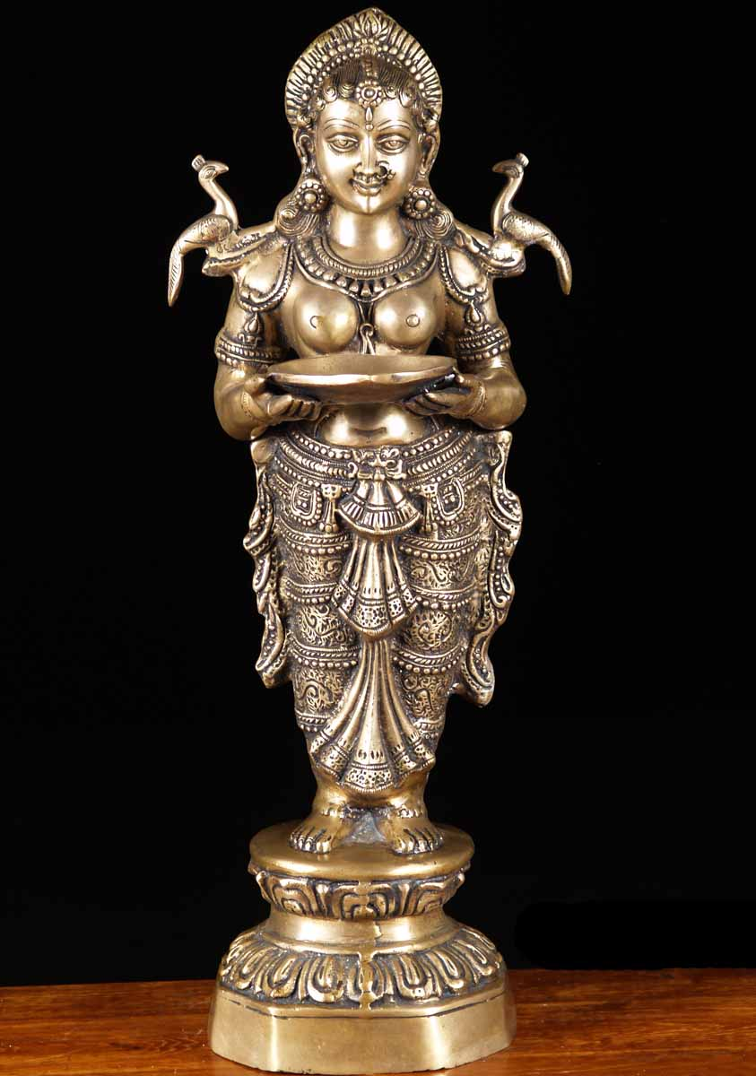 indian brass lamps photo - 2