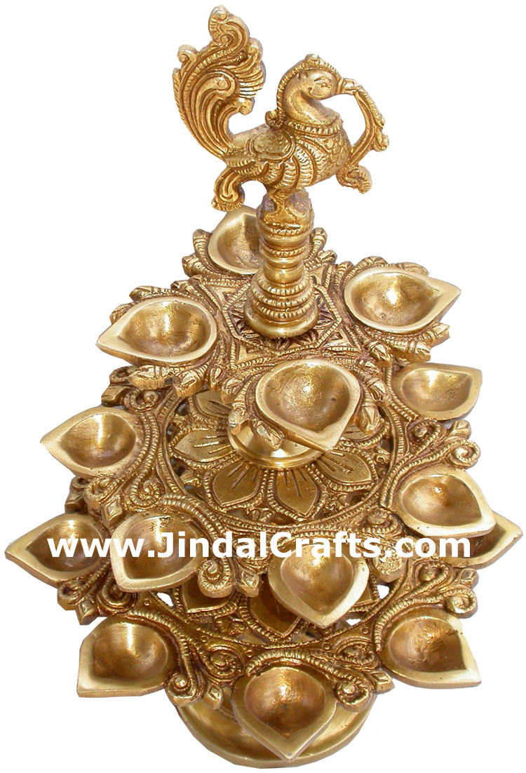 indian brass lamps photo - 6