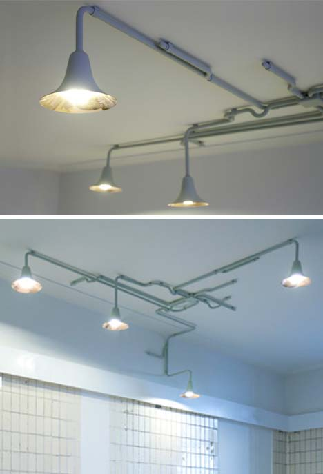industrial ceiling lights photo - 1