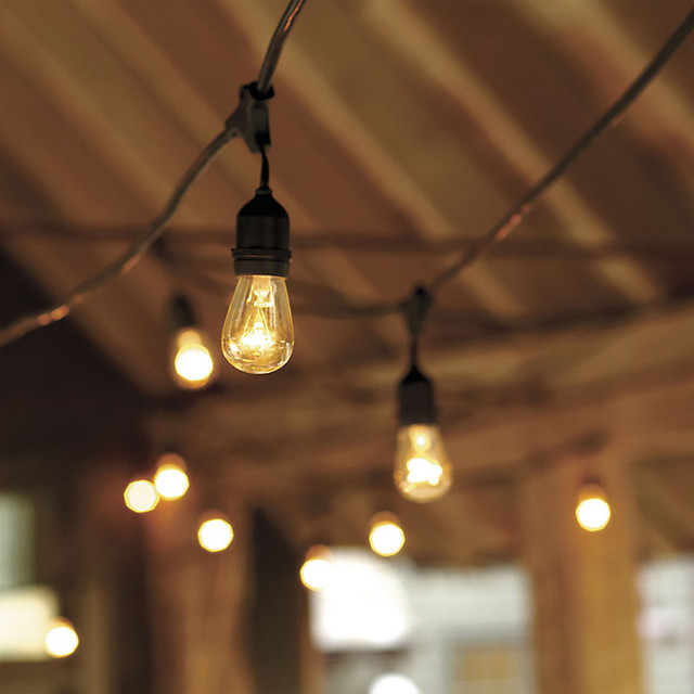 industrial string lights outdoor photo - 1
