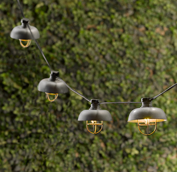 industrial string lights outdoor photo - 3