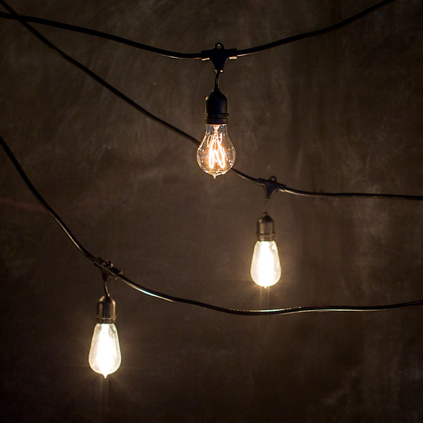 industrial string lights outdoor photo - 5