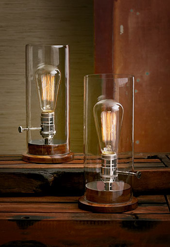 industrial style table lamps photo - 2