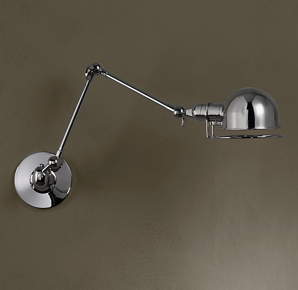 industrial swing arm wall lamp photo - 1