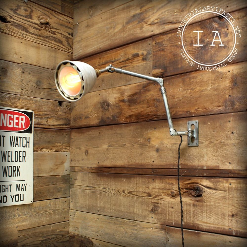 industrial swing arm wall lamp photo - 10