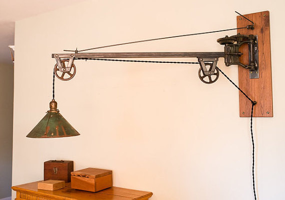 industrial swing arm wall lamp photo - 9