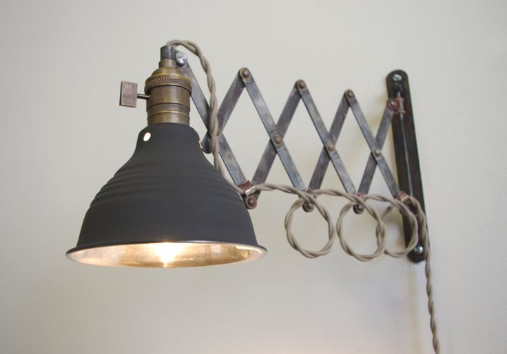industrial wall lamp photo - 2