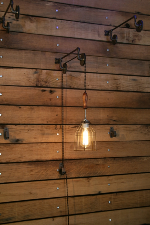 industrial wall lights photo - 2