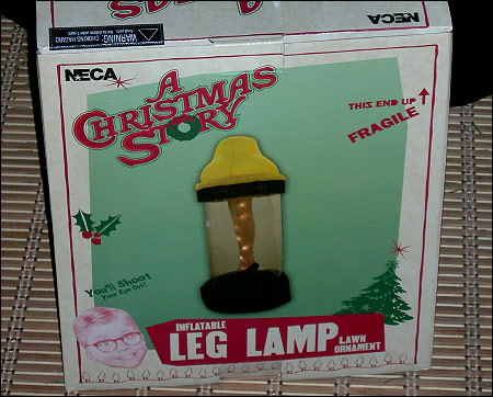 inflatable leg lamp photo - 3