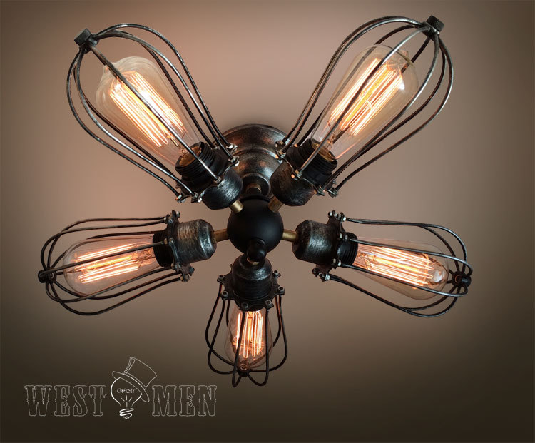 iron ceiling lights photo - 3