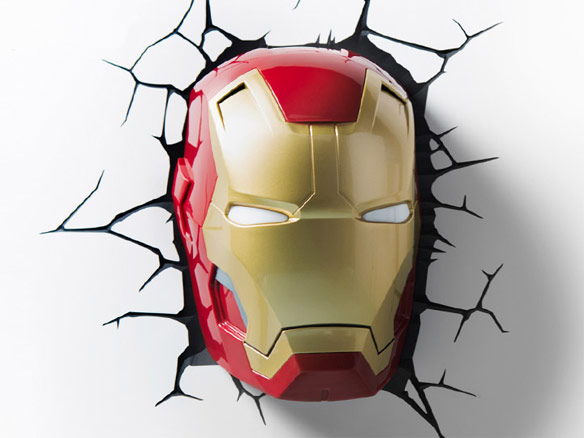 iron man 3d wall light photo - 6