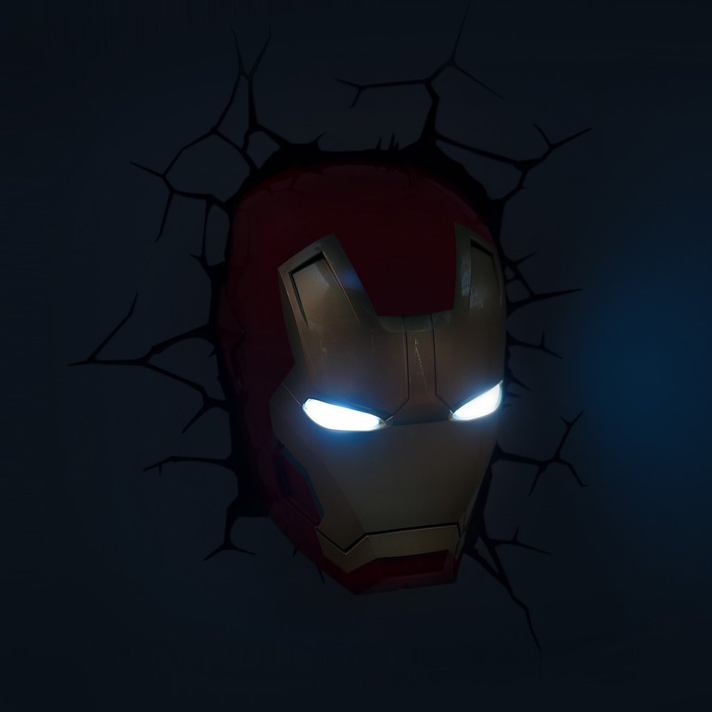 iron man wall light photo - 10