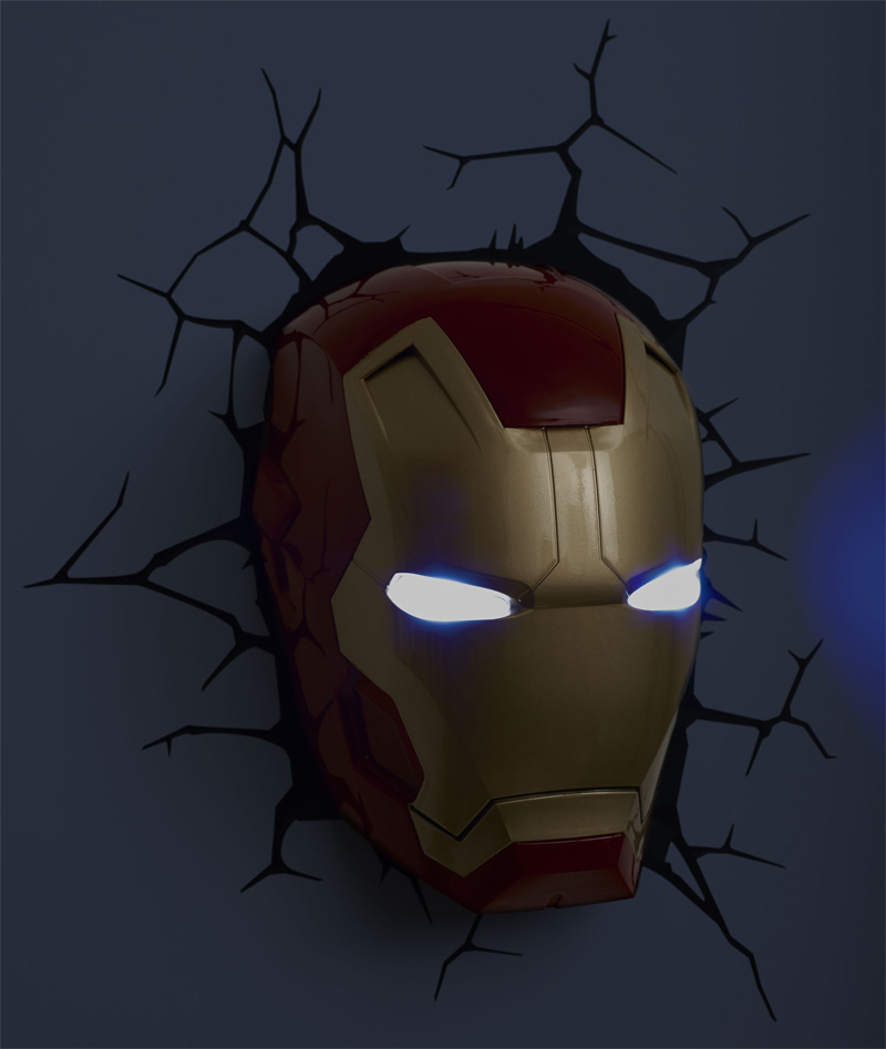 iron man wall light photo - 9