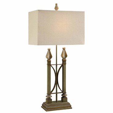 iron table lamp photo - 4