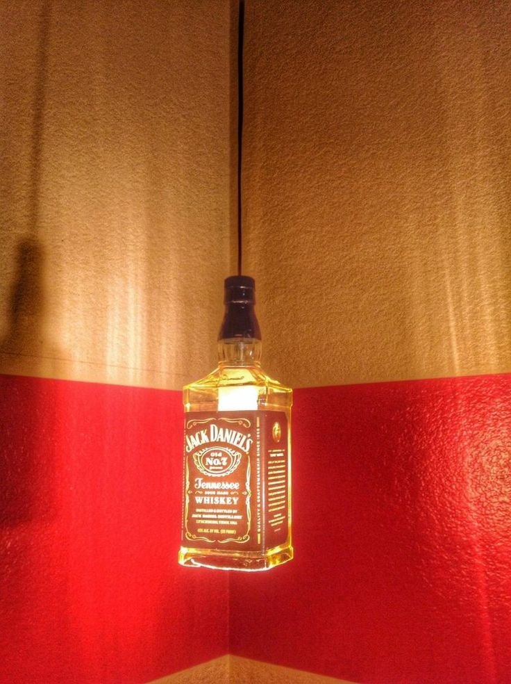 jack daniels bottle lamp photo - 2