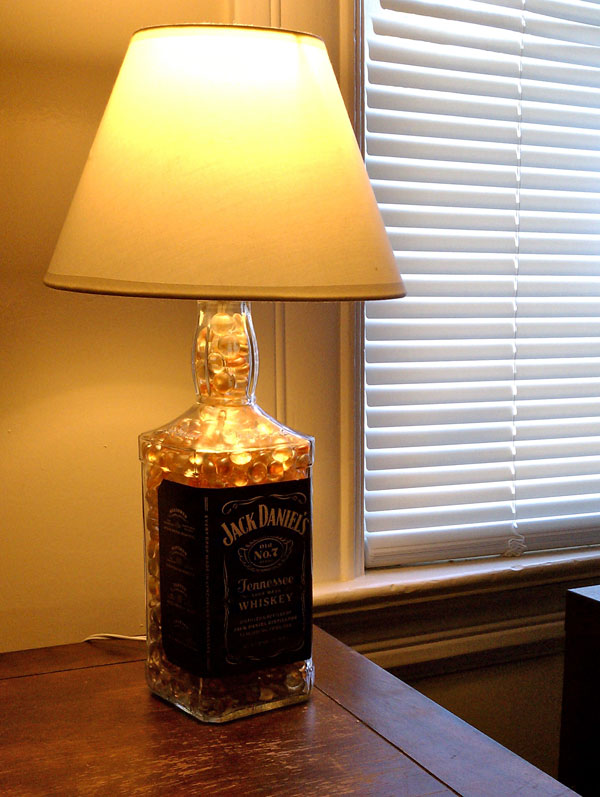 jack daniels bottle lamp photo - 8