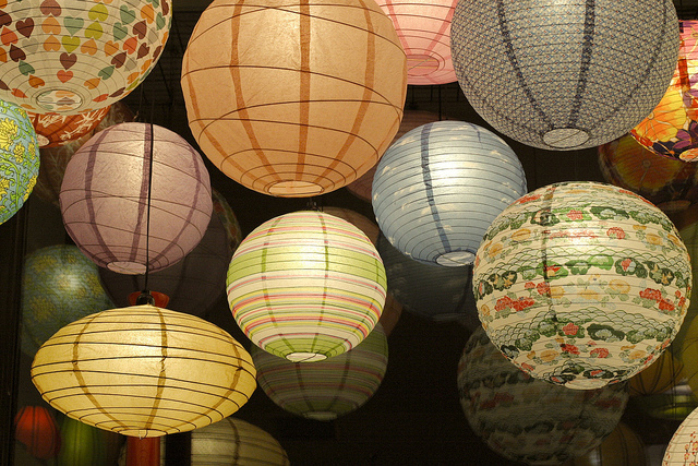 Japanese Paper Lamps Photo   4