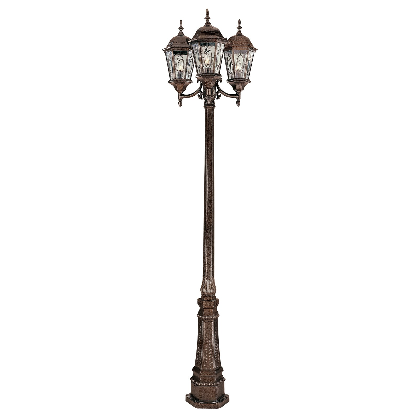 Exterior Lamp Posts 8 Foot Exterior Lamp Post with Decorative