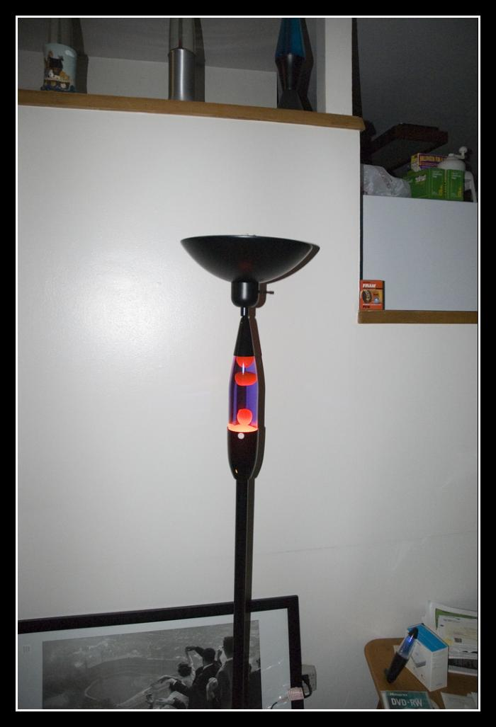 lava lamp floor lamp photo - 3