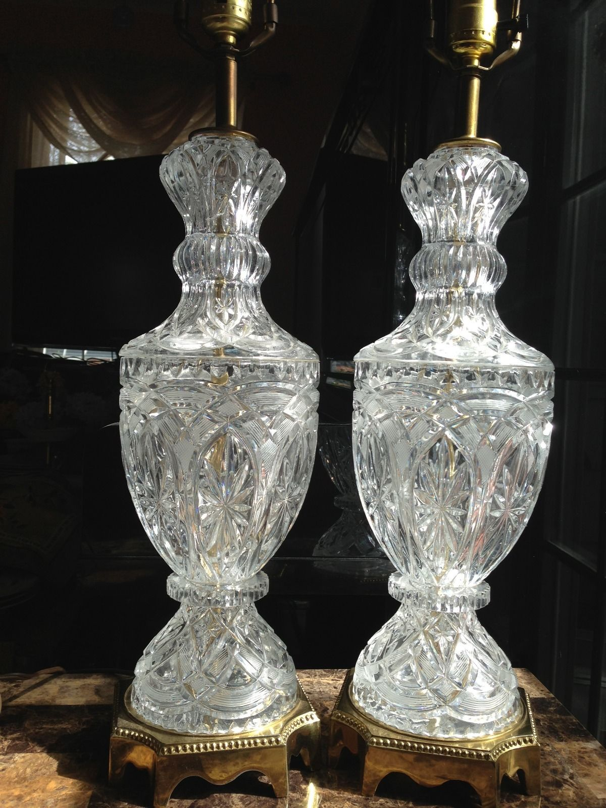 lead crystal lamps photo - 4