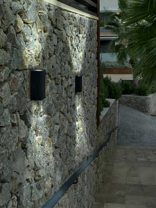 led exterior wall lights photo - 8