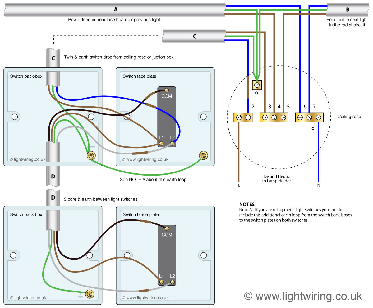 Wiring 2 Gang Light Switch: 2 Gang Light Switch Wiring Diagram Nilza Net,Lighting
