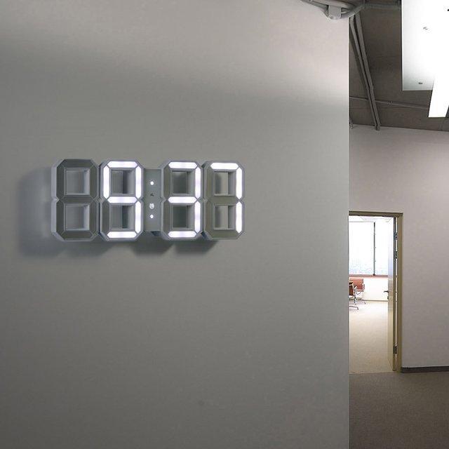 led light wall clock photo - 1